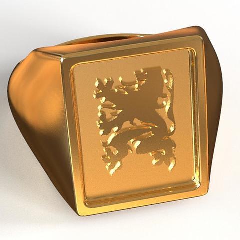 stl Flanders Lion ring, plasmeo3d