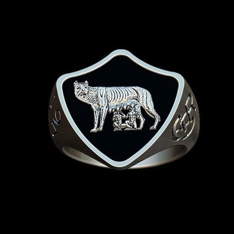 STL file AS Roma vintage ring, plasmeo3d