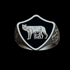 Fichier imprimante 3D AS Roma vintage ring, plasmeo3d