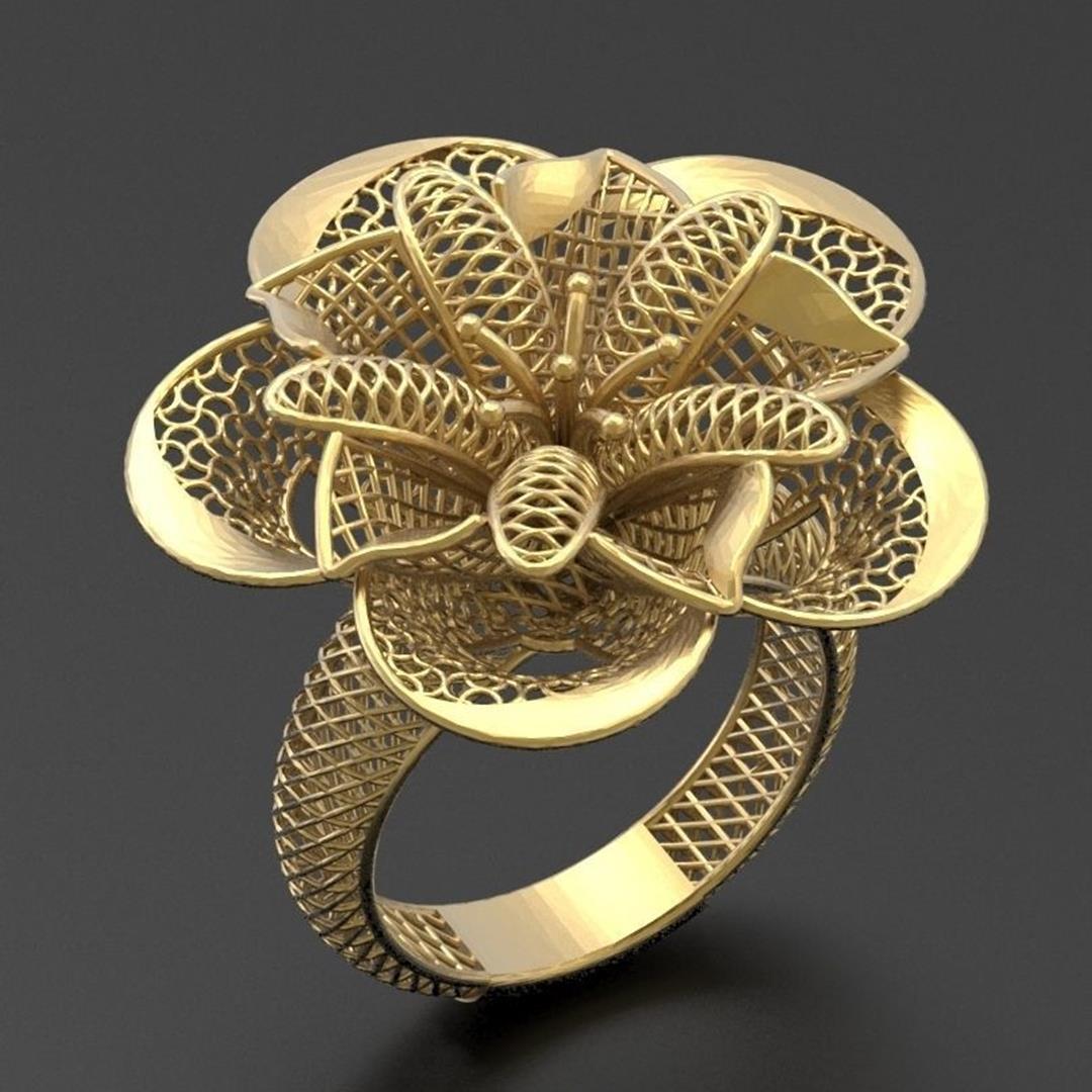 Flower ring 2 insta 11.jpg Download STL file Flower ring 2 • Design to 3D print, plasmeo3d