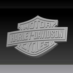 Download 3D printing files Harley Davidson Logo, plasmeo3d