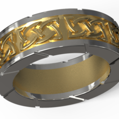 glam1.png Download STL file Two metals celtic ring • 3D printer object, plasmeo3d