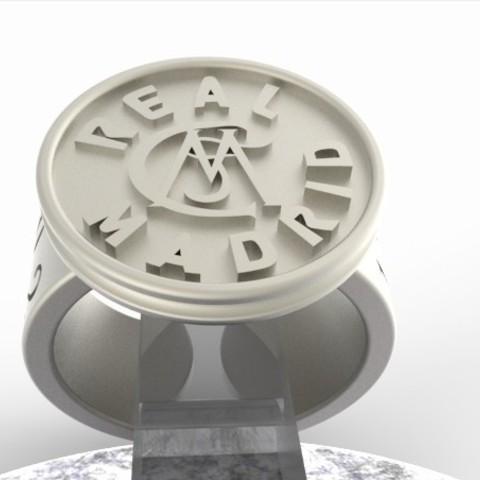 Download OBJ file Real Madrid Vintage Edition Signet • 3D printer model, plasmeo3d