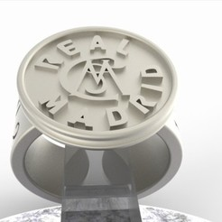 Diseños 3D Sello Real Madrid Edición de la vendimia, plasmeo3d