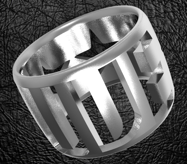 Juve2-ring2.PNG Download OBJ file Knight Juventus 2 • 3D print object, plasmeo3d