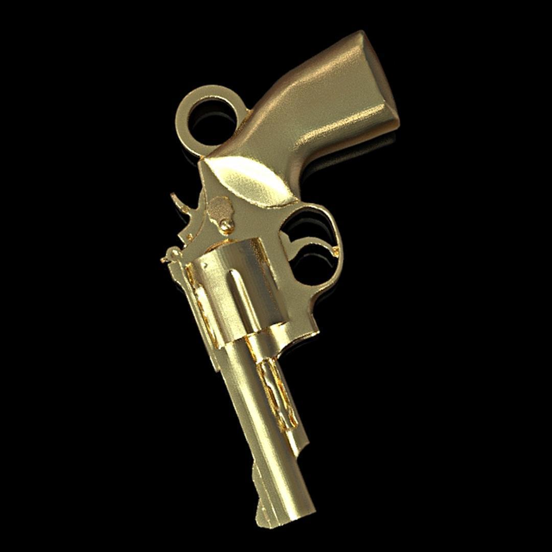 revolver pendant insta 11.jpg Download STL file Revolver during • Template to 3D print, plasmeo3d
