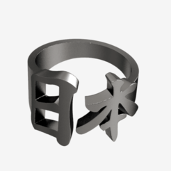 untitled.29.png Télécharger fichier STL Japan Kanji ring -new • Objet imprimable en 3D, plasmeo3d