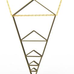 Modelos 3D para imprimir colgante pentagonal, plasmeo3d