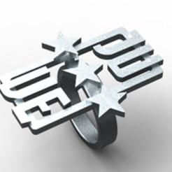 3D file signet ring Juventus 3, plasmeo3d