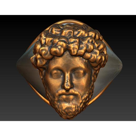 Download 3D printer files Bronze/silver Marcus Aurelius mensring, plasmeo3d