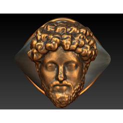maring11.jpg Télécharger fichier STL Bronze/silver Marcus Aurelius mensring • Objet pour impression 3D, plasmeo3d