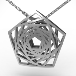 3D printer files Infinite pentagon pendant, plasmeo3d