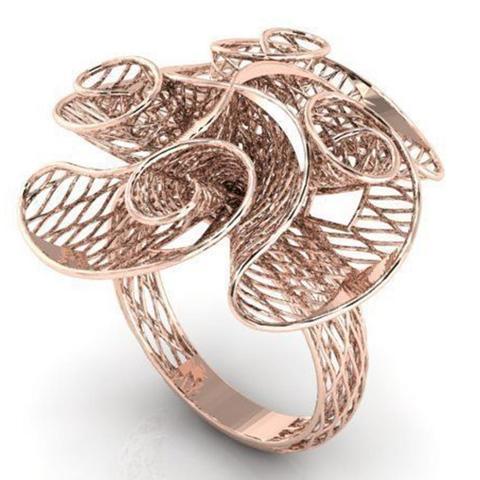 3d printer designs Flower ring, plasmeo3d