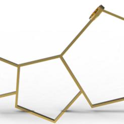 STL Pendentif lunaire pentagonal, plasmeo3d