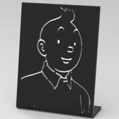 Download 3D printer designs Tintin frame, plasmeo3d