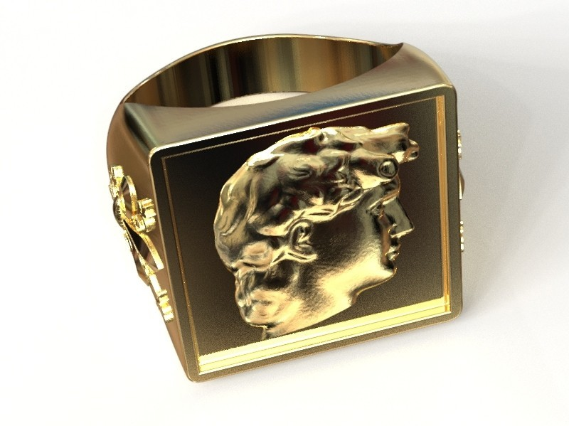 untitled.136.jpg Download STL file Florentia ring • 3D printer object, plasmeo3d