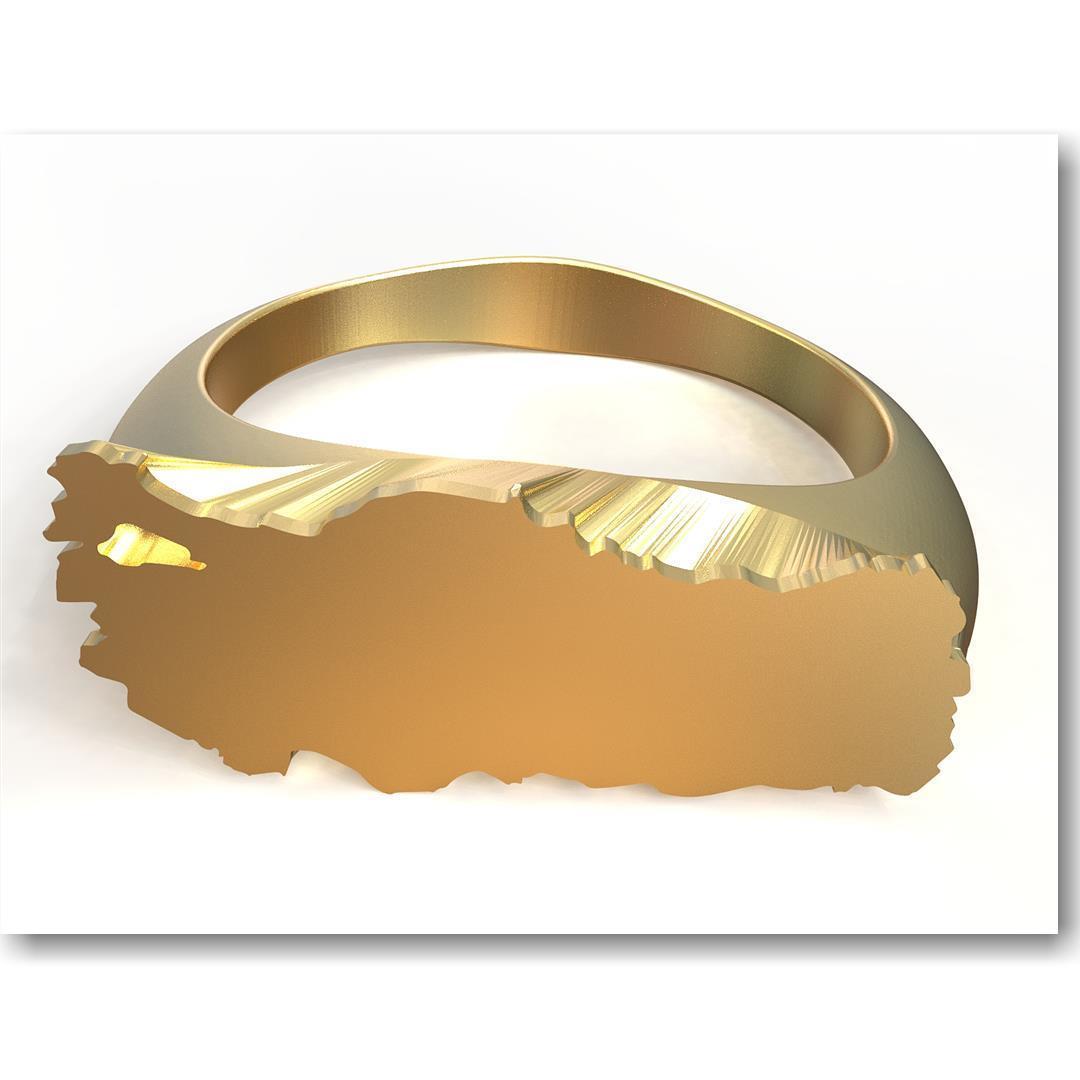 Türkyie ring insta 21.jpg Download STL file Turkey Ring • 3D printer object, plasmeo3d