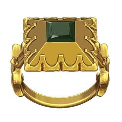STL 17th century fashion ring , plasmeo3d