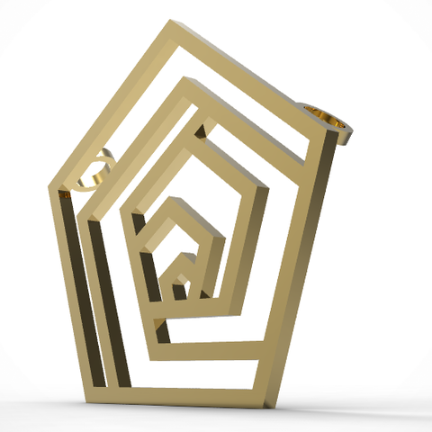 mirror-pentagone-pendant2.PNG Download STL file Pentagon • 3D printable design, plasmeo3d