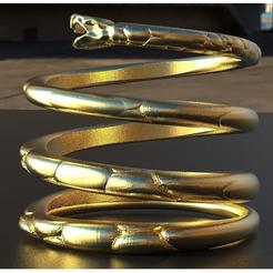 Download 3D printing templates Snake ring, plasmeo3d