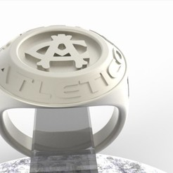 3D print model Atletico Madrid Fan Ring Vintage Edition, plasmeo3d