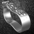 Download OBJ file Two fingers fancy ring • 3D printer model, plasmeo3d