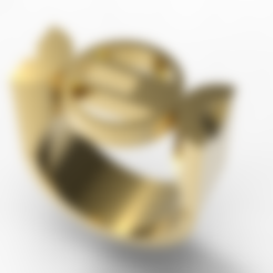 Download STL file Bauhaus Ring • 3D print design, plasmeo3d