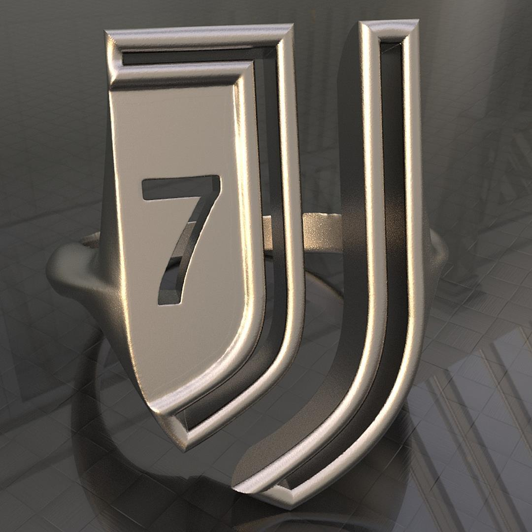 Chevalière Juve 71.jpg Download STL file Ring J7 • 3D printer model, plasmeo3d