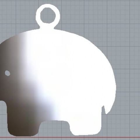 Download STL file Simple Elephant Pendant • 3D printable template, plasmeo3d