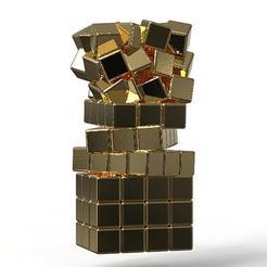Fichier 3D Pendentif Crazy Cubes , plasmeo3d