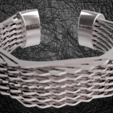 Download STL file Hexagonal Bracelet • 3D printable template, plasmeo3d