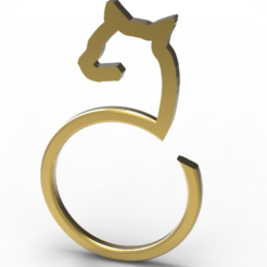 3D printer files abstract cat ring, plasmeo3d