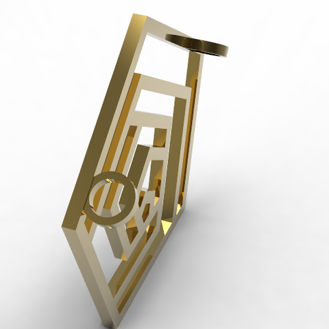 mirror-pentagone-pendant3.PNG Download STL file Pentagon • 3D printable design, plasmeo3d