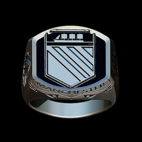 Fichier imprimante 3D Manchester United vintage ring, plasmeo3d