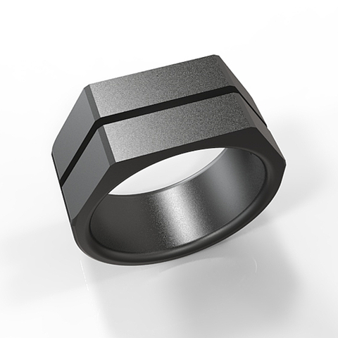 Download STL file Hexagonal Signet • Design to 3D print, plasmeo3d