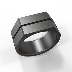 Télécharger fichier imprimante 3D Chevalière héxagonale , plasmeo3d