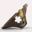 Download STL files Replica of a coin Tenpô Tshuo on ring, plasmeo3d