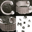hexagonal-bracelet-2TW.png Download STL file Hexagonal Bracelet 2 • 3D print object, plasmeo3d