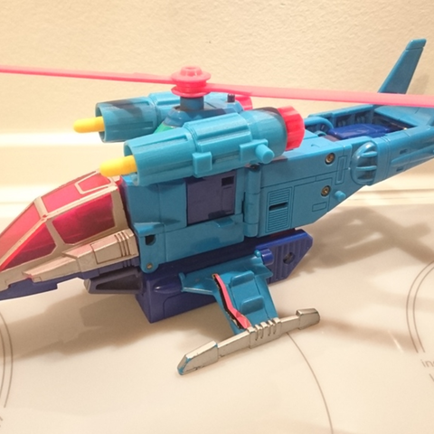 Free 3D printer file TRANSFORMERS G1 Rotorstorm GUN/ENGINE, sickofyou