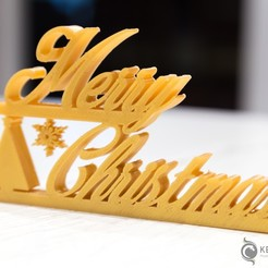 Merry_Christmas_001.jpg Download free STL file Merry Chrismas • 3D print design, LeKid
