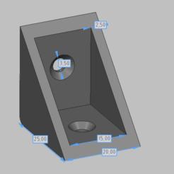 Equerre_25mm.png Télécharger fichier STL Equerre pour fixation étagère (25 mm) • Objet pour imprimante 3D, jonathan_tamiya
