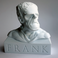 Download free STL files Frank (Frankenstein) Bust, FrankLumien