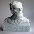 Download free STL files Frank (Frankenstein) Bust, FrankLumien