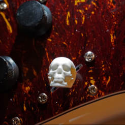 Download free 3D printing models Electric guitar skull tone switch, FrankLumien