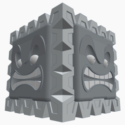 Free 3D printer model Thwomp container (Super Mario), FrankLumien