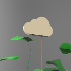 Download free 3D printing templates Small Cloud / Water your plants # LIFEHACK3D, ZimArthur