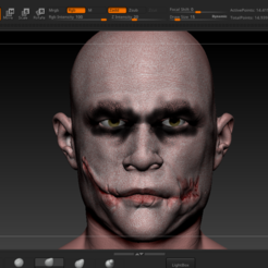 Download 3D printer templates Heath Ledger Joker TDK, Slrange