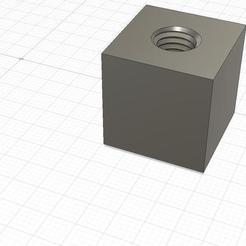 Cubo_Tuerca_M8-1980-Rosca_Avellanada-con_Tolerancia-01_v1.jpg Download free STL file Hub Nut,Hub Hex Head and M8 threaded bolts • 3D printing object, mgg_1