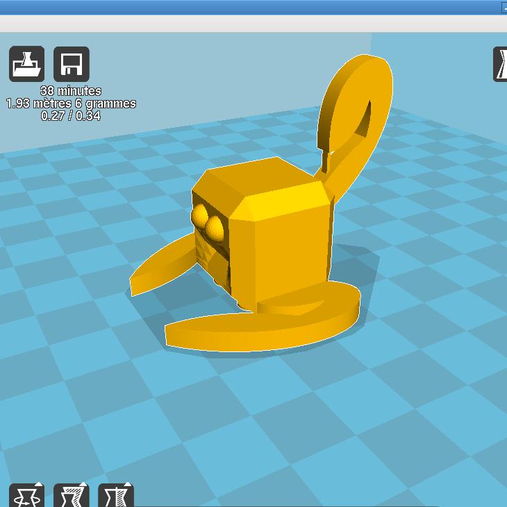 cura_stratomaker.png Download free STL file Mascot stratomaker contest • Model to 3D print, parizot