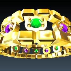 Download free STL file Precious stone ring • 3D printer template, parizot